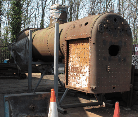 'the boiler of No. 6 on the stands