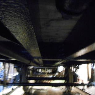 the underside of the chassis