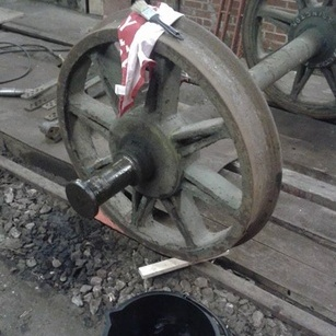one wheel before painting
