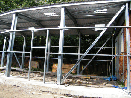 the complete frame and roof