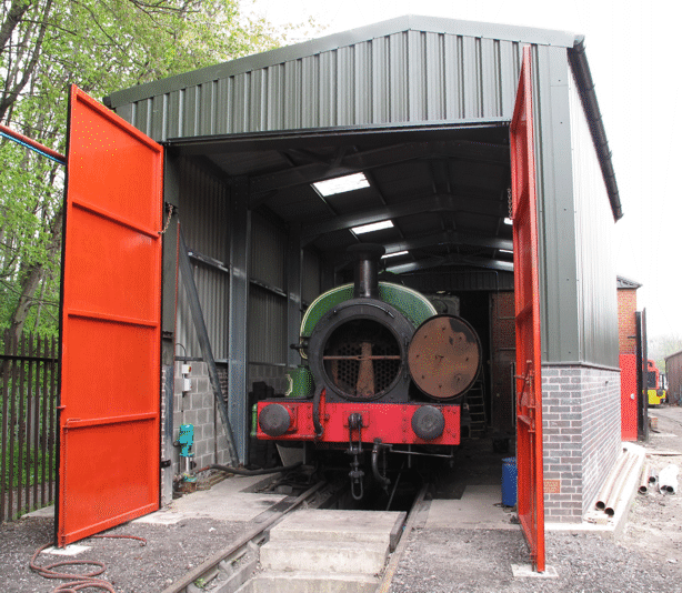 Slough Estates No. 3 in the shed