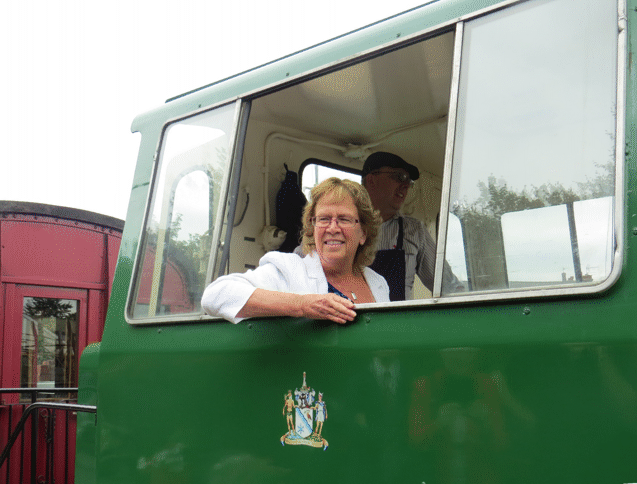 Judith Blake in the cab of HC D1373