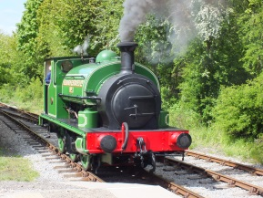 locomotive at Park Halt