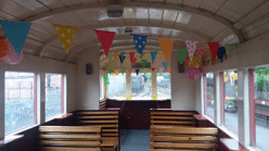 The decorated party coach