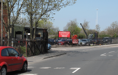 view of site entrance from Moor Road