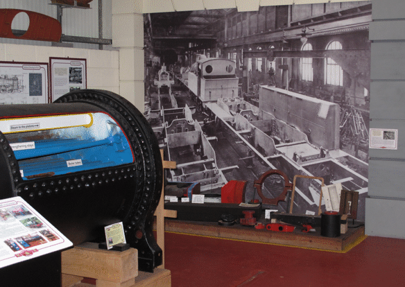 locomotive building display